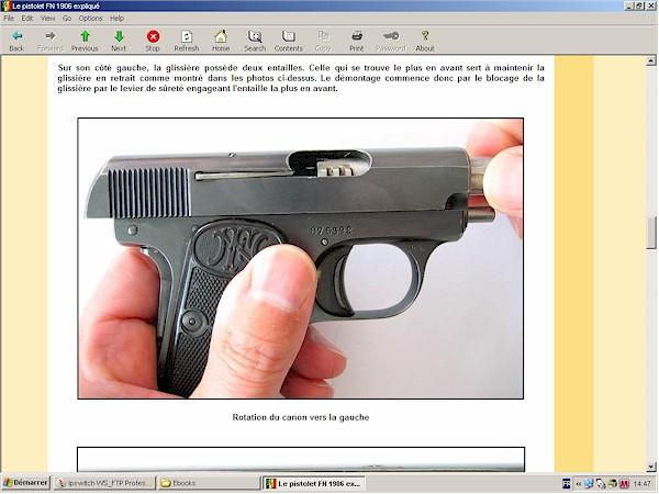 pistolet FN Browning modèle 1906