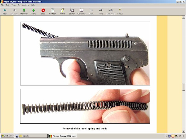 Pieper Bayard Model 1908 pocket pistol explained - new ebook