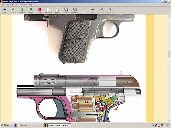 Pieper Bayard model 1908 pistol