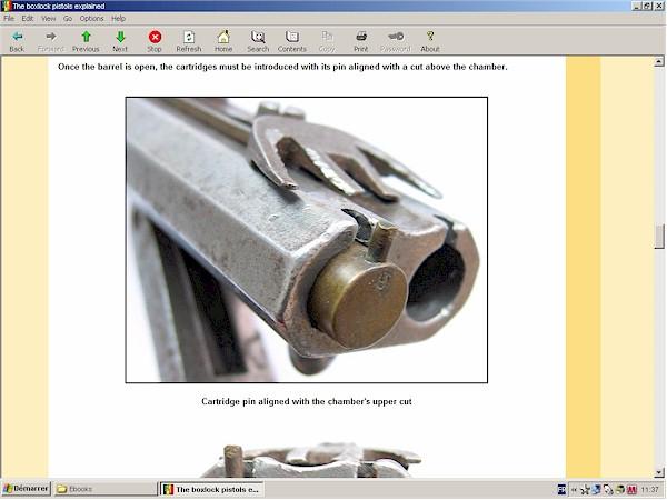 pinfire boxlock pistol