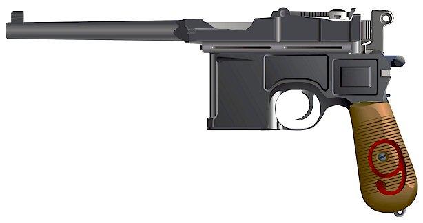 Mauser C96 red nine