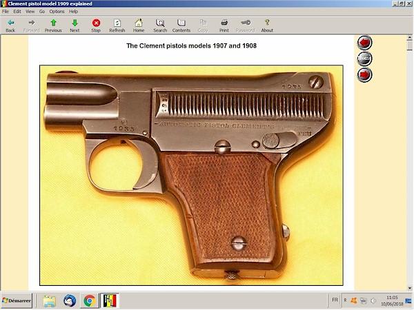 Clement 1909  pistol explained
