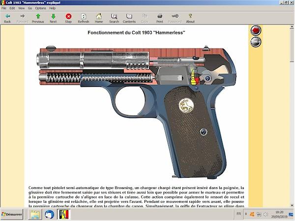 Colt 1903 hammerless expliqué