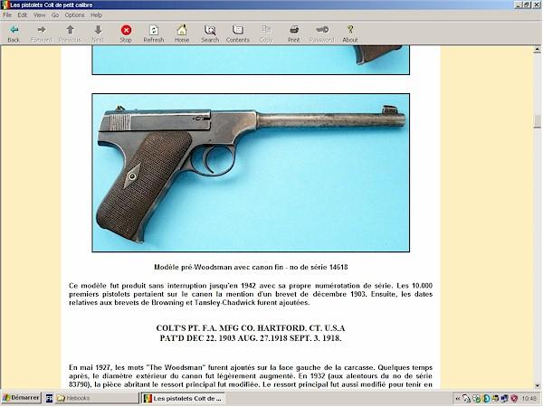 Pistolets Colt de petit calibre