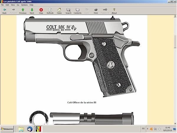 Pistolets Colt post 1980