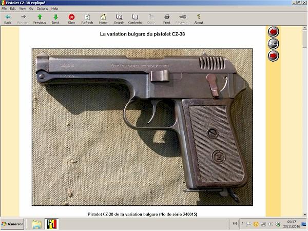 Pistolet CZ-38 expliqué