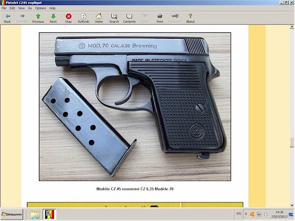 Pistolet CZ-45 expliqué