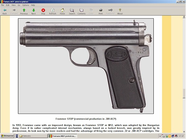 Hungarian Femaru (Frommer) pistol Model 37 explained