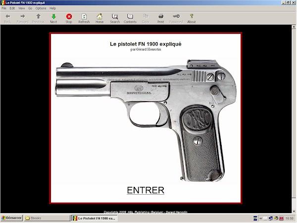 pistolet FN Browning Modèle 1900