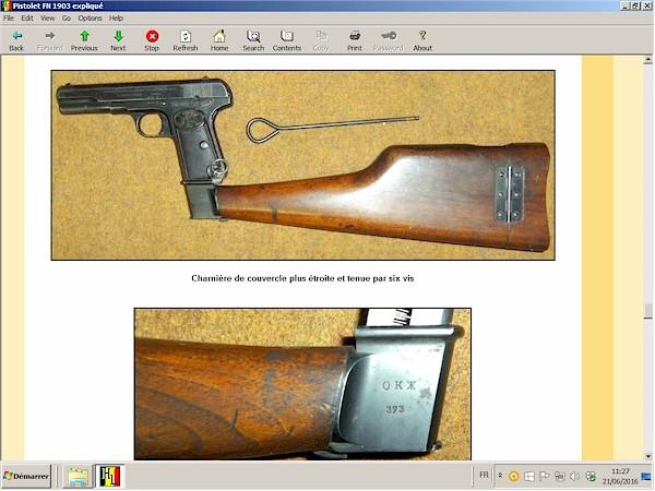 pistolet fn 1903 expliqué