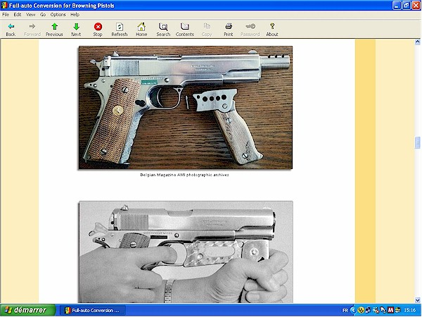 Full auto conversion for Colt 1911
