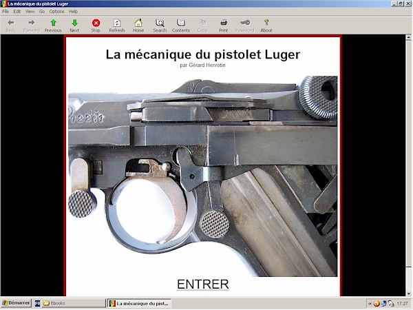 m�canique du pistolet Luger