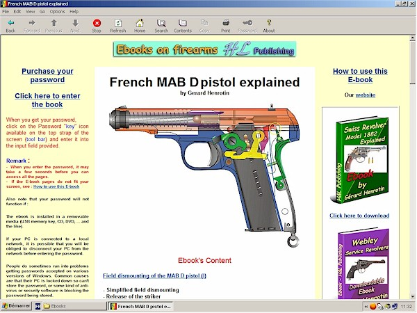 French MAB D pistol