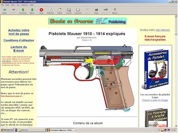 accessoires du pistolets Mauser 1910 1914 1934