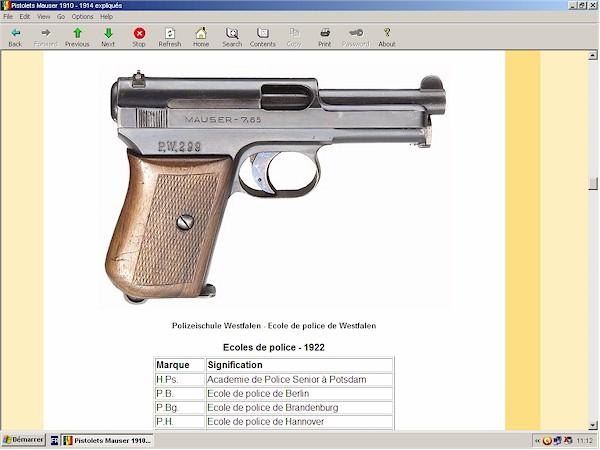 pistolets Mauser 1910 1914 1934