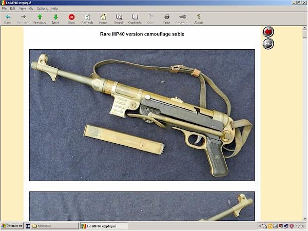 Pistolet mitrailleur MP40 expliqué