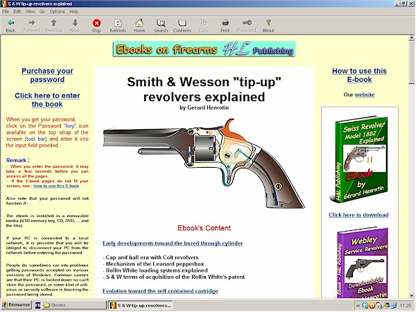 Smith & Wesson tip-up revolvers model 1, 1 1/2 and model  2