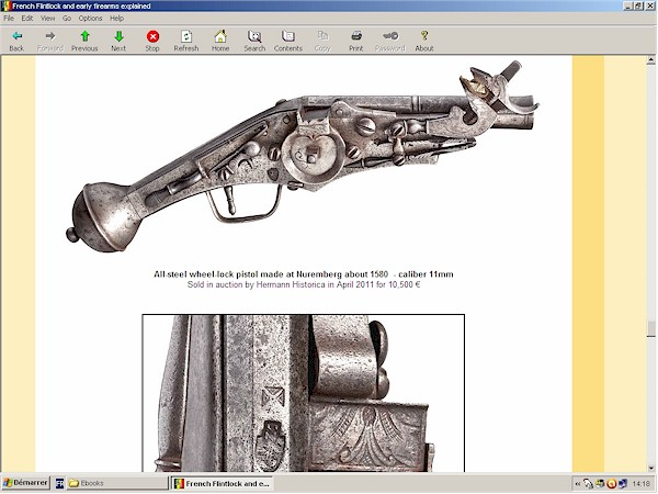 French flintlock pistol