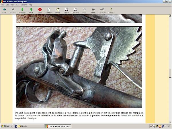 Pistolet à silex français