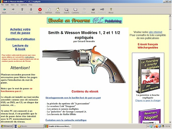 Revolvers Smith et Wesson tip-up
