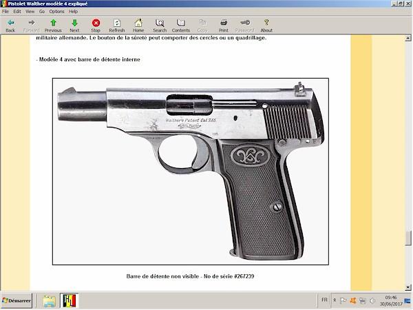 pistolet Walther modèle 4