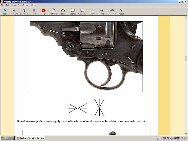 webley revolver markings